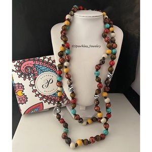 Plunder Willa Necklace - Multi-colored beads